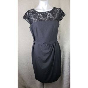 Jones Wear black lace cocktail dress size 12 NWT